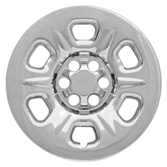 "RI® - 15"" 6 Raised Dimpled Spokes Chrome Wheel Skins"