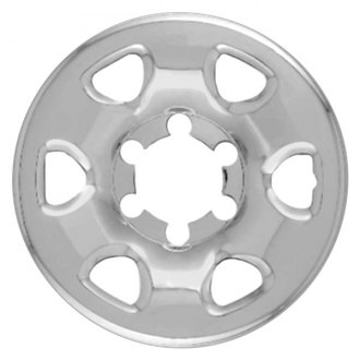 "RI® - 15"" 6-Rounded-Triangle Chrome Wheel Skin"