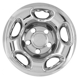 "RI® - 16"" 5-Rounded-Triangle Chrome Wheel Skins"