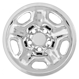 "RI® - 15"" 5 Indented Spokes Chrome Wheel Skins"