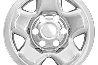 "RI® - 16"" 5-Raised-Spoke Chrome Wheel Skin"