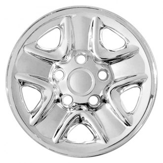 "RI® - 18"" 5-Indented-Spoke Chrome Wheel Skins"