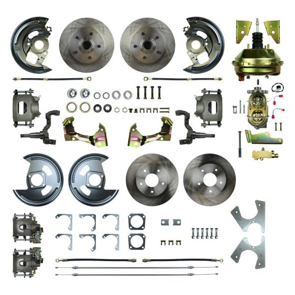 Image may not reflect your exact vehicle or part! Right Stuff® - Drum-to-Disc Plain Front and Rear Brake Conversion Kit