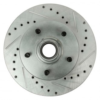 Right Stuff® - Drilled and Slotted Vented 1-Piece Front Brake Rotors and Hub Assembly