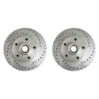 Right Stuff® - Drilled and Slotted Vented 1-Piece Front Brake Rotors and Hub Assemblies