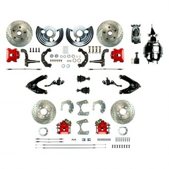 Right Stuff® - Drum-to-Disc Drilled and Slotted Front and Rear Brake Conversion Kit