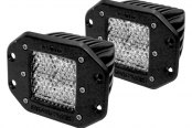 Rigid Industries® - D-Series 4 LEDs Flush Mount White Diffused LED Light