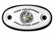 Rigid Industries® - A-Series Green LED Accessory Light (White Low-Strength Housing)