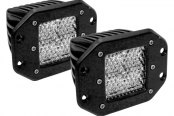 Rigid Industries® - D-Series 6 LEDs Flush Mount White Diffused LED Light