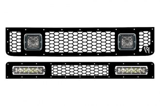 Rigid Industries® - Black Honeycomb Grille Kit with LED