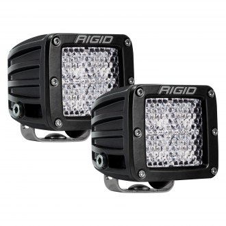 RIGID Industries 202513 D-Series PRO LED Lights Pair of Dually Diffused Lens