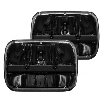 "Rigid Industries® - 7x6"" Rectangular Black LED Headlights"