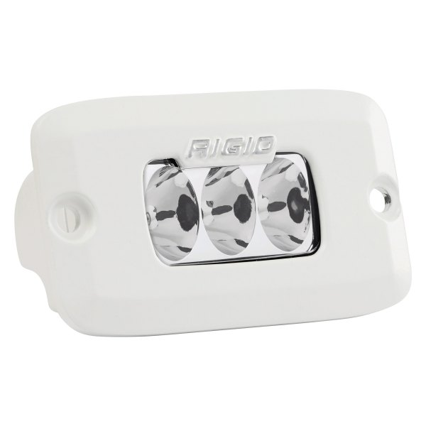 "Rigid Industries® - SR-M Series Pro Flush Mount 3""x2"" 23W White Housing Driving Beam Amber LED Light"