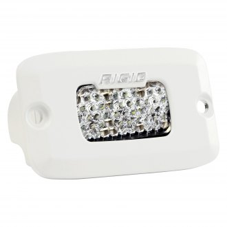 "Rigid Industries® - SR-M Series Pro Flush Mount 3""x2"" 11W/2.6W White Housing High/Low Dual Function Diffused Beam LED Light"