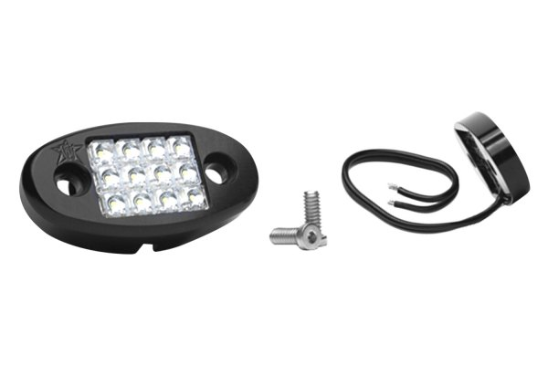 Rigid Industries® - Red LED Dome Light with Flat Mount