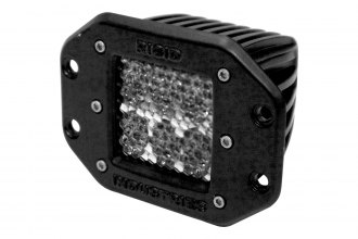 Rigid Industries® - D2 Flush Mount White Diffused LED Light
