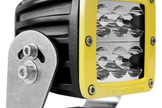 Rigid Industries® - D2 HD Amber Wide LED Light (Yellow Bezel)