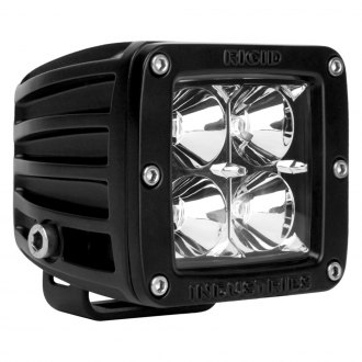 Rigid Industries® - D-Series 4 LEDs Amber Flood LED Light