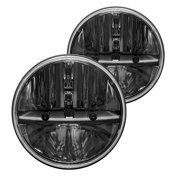 "Rigid Industries® - 7"" Round Black LED Headlights"