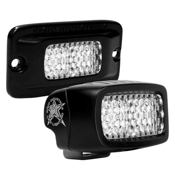 Rigid Industries® - SR-M Series Black Surface Mount Diffused LED Backup Light Kit