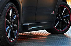 RimPro-Tec® — Red Wheel Bands on Mini Cooper
