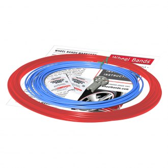 RimPro-Tec® - Sky Blue Insert and Red Track Wheel Bands™