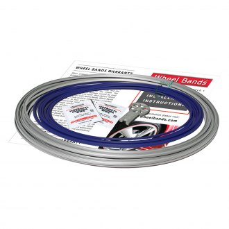 RimPro-Tec® - Blue Insert and Silver Track Wheel Bands
