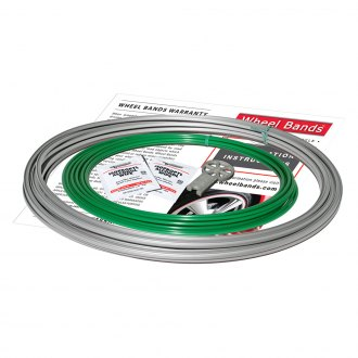 RimPro-Tec® - Green Insert and Silver Track Wheel Bands