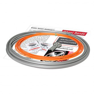 RimPro-Tec® - Orange Insert and Silver Track Wheel Bands