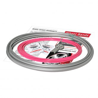 RimPro-Tec® - Pink Insert and Silver Track Wheel Bands