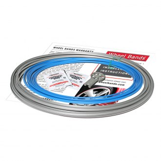 RimPro-Tec® - Sky Blue Insert and Silver Track Wheel Bands