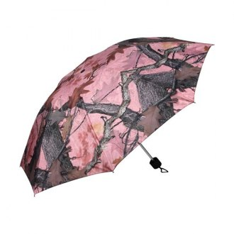 "Rivers Edge® - 42"" Compact Folding Pink Camo Umbrella"