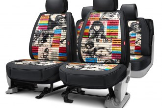 Rixxu™ - Designer Series Black Seat Covers with Couture Pattern