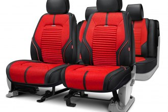Rixxu™ - Super Sport Series Red Seat Covers with Black Sides