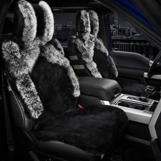 Rixxu® - Sheepskin Seat Cover with Fox Fur Accents