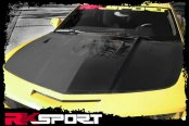 RKSport® - Carbon Fiber Hood with Clear Center