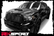 Image may not reflect your exact vehicle! RKSport® - Ram Air Hood with Carbon Fiber Top