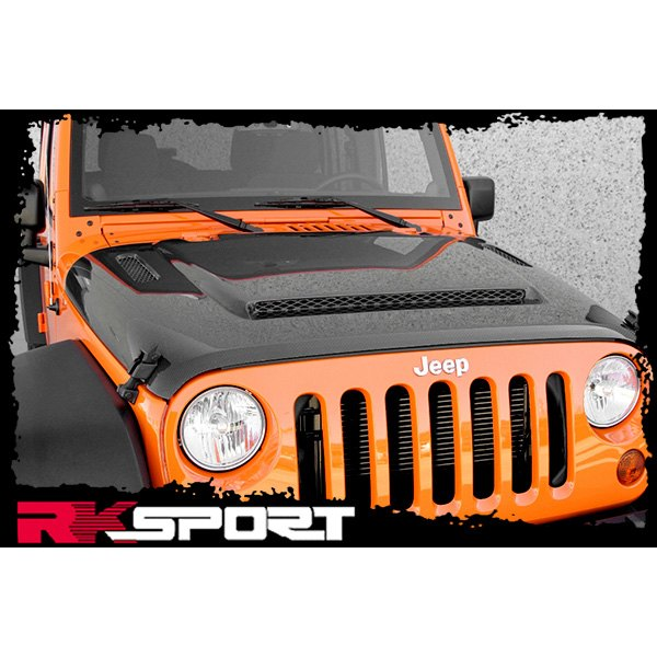 Image may not reflect your exact vehicle! RKSport® - Ram Air Carbon Hood