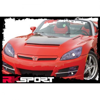 RKSport® - Fiberglass Ram-Air Hood with Carbon Fiber Blister (Unpainted)