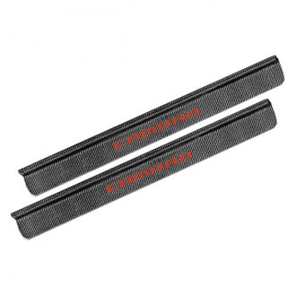 RKSport® - Carbon Fiber Door Sills with Red Logo