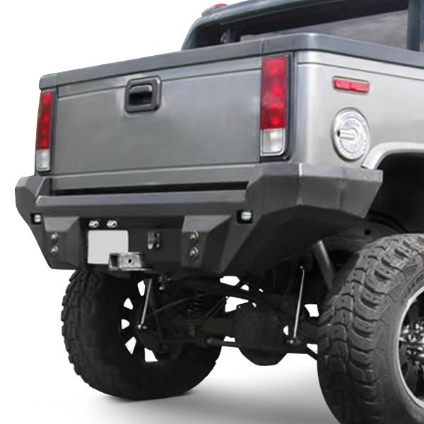 Road Armor® - Dakar Series Full Width Rear HD Black Powder Coat Bumper