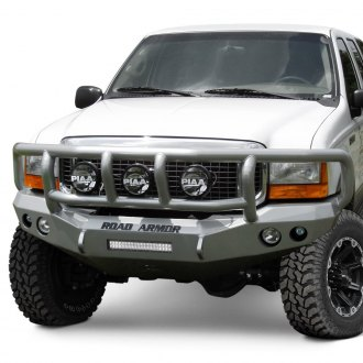 Road Armor® - Stealth Series Full Width Front HD Bumper with Titan II Brush Guard