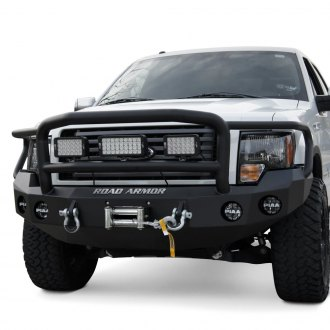 Road Armor® - Stealth Series Full Width Front Winch HD Bumper with Lonestar Guard