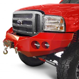 Road Armor® - Stealth Series Full Width Black Front Winch HD Bumper