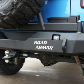 Road Armor® - Stealth Series Full Width Rear HD Bumper with Tire Carrier