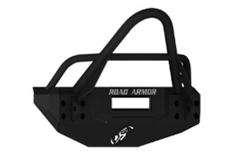 Road Armor® - Stealth Series Black Powdercoated Front Bumper with Light Bar Mount and Stinger Guard