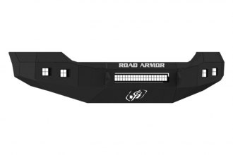 Road Armor® - Stealth Series Black Powdercoated Front Bumper with Square Light Mounts
