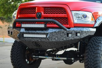 Road Armor® - Stealth Series Bare Steel Front Bumper with Pre-Runner Guard and Square Light Mounts