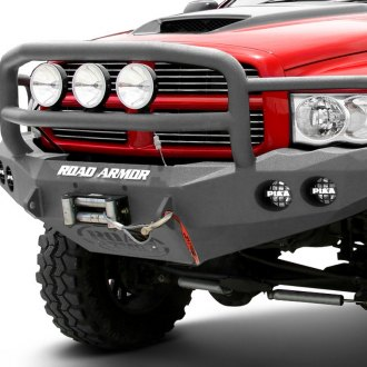 Road Armor® - Stealth Series Full Width Bare Steel Front Winch HD Bumper with Lonestar Guard