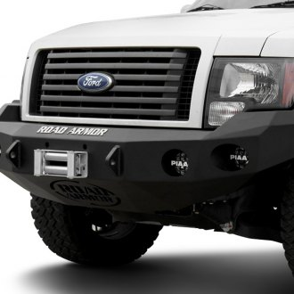 Image may not reflect your exact vehicle!Road Armor® - Stealth Series Black Powdercoated Front Bumper